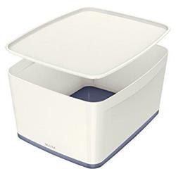 Leitz MyBox Storage Box Large with Lid Plastic W385xD318xH198mm White/Grey Ref 52164001