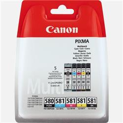 Canon PGI-580/CLI-581 Inkjet Cartridge Page Life 950pp Black 741pp Colour Ref 2078C005 [Pack 5]