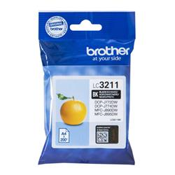 Brother LC3211BK Inkjet Cartridge Page Life 200pp Black Ref LC3211BK