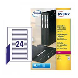Avery L7170 Eurofolio Filing Laser Labels 134x11mm Ref L7170-25 - Pack 600