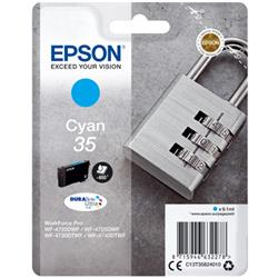 Epson Padlock 35 T3582 (Yield 650 pages) DURABrite Ultra Cyan 9.1ml Ink Cartridge Ref C13T35824010