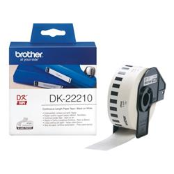 Brother DK22210  Tape 29mm Wide Black/White