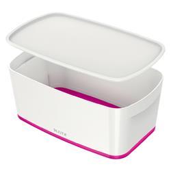 Leitz MyBox Storage Box Small with Lid Plastic W318xD19xH128mm White/Pink Ref 52294023