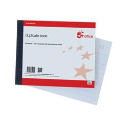 5 Star Office Duplicate Book 100 Sets Ruled Indexed Perforated 105x130mm