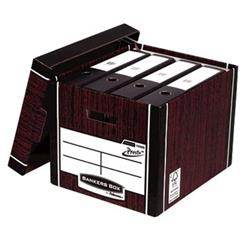 Bankers Box Premium Storage Box Tall FSC Woodgrain Ref 7260503 [Pack 12] [12 for the price of 10]