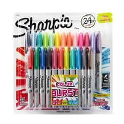 Sharpie Fine Colour Burst Marker Non-toxic 0.9mm Tip Assorted Ref 1956292 [Pack 24]