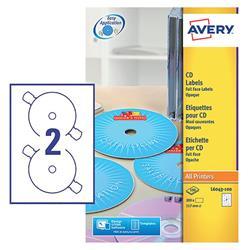 Avery L6043 Classic CD Laser Labels 117mm Diameter Ref L6043-100 - Pack 200