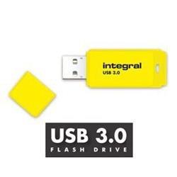 Integral Neon USB3.0Drive 128GB Yellow