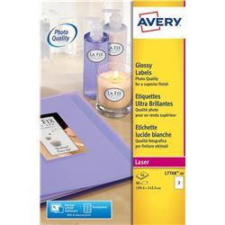Avery L7768 Colour Laser Labels 199.6x143.5mm 2 per page Ref L7768-40 - 40 sheets