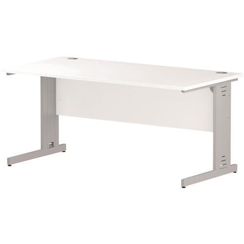 Trexus Rectangular Desk Cable Managed Leg 1600mm White Ref I002273 ...