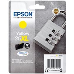 Epson Padlock 35XL T3594 (Yield 1900 pages) DURABrite Ultra Yellow 20.3ml Ink Cartridge Ref C13T35944010