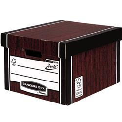 Bankers Box Premium Storage Box Classic FSC Woodgrain [Pack 12] [12 for the price of 10] Ref7250503
