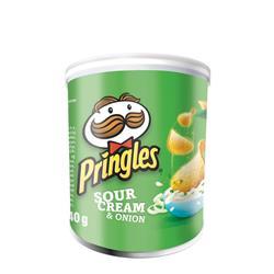 Pringles PopnGo Sour Cream Onion Crisps Unique Shape Well-seasoned Non-greasy Ref 7000279000 [Pack 12]