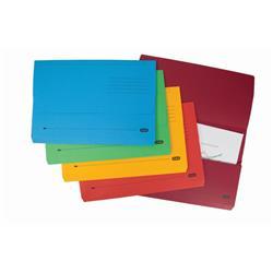 Elba Bright Manilla Document Wallet 320gsm Capacity 32mm Foolscap Assorted Ref 400099327 [Pack 10]