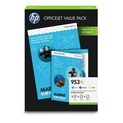 Hewlett Packard [HP] 953XL Inkjet Cartridges Page Life 1600x3pp Cyan/Magenta/Yellow 1CC21AE [Pack 3]