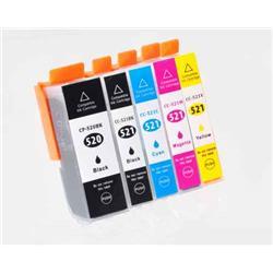 Alpa-Cartridge Compatible Canon Multipack 5 Ink Cartridges PGI520/CLI521