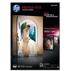 Hewlett Packard [HP] Premium Plus Photo Paper Glossy 300gsm A4 Ref CR672A [20 Sheets]