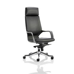 Adroit Executive Chair Static Arms Flat Packed Bonded Leather Black Ref KC0216
