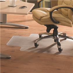 Floortex Clear PVC Lipped Hard Floor Chairmat 920x1210mm Ref 1299225LV