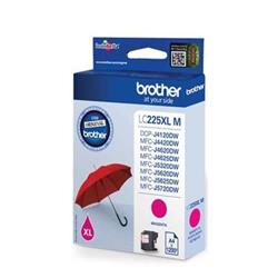 Brother Inkjet Cartridge High Yield 11.8ml Page Life 1200pp Magenta Ref LC225XLM