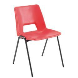 Jemini Polypropylene Stacking Red Chair Ref KF74961