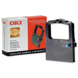 OKI Ribbon Cassette Fabric Nylon Black - for 100 300 Series-9 PIN-182 3-192 3-320 I-3320 Ref 09002303