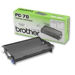 Brother PC-70 Fax Cassette (Yield 140 Pages) Black for T74/T76/T84/T86