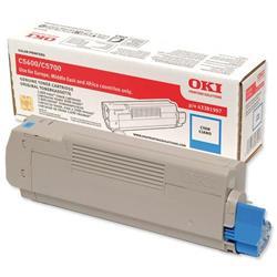 OKI Cyan Laser Toner Cartridge for C5600/C5700 Ref 43381907