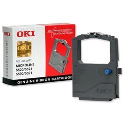OKI ML5500 Series Black Fabric Nylon Ribbon Cartridge Ref 01126301