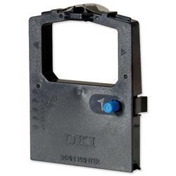 OKI Black Nylon Fabric Ribbon Cassette for ML-300 Series-24 PIN Ref 09002309