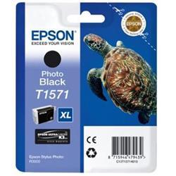 Epson T1571 Inkjet Cartridge Turtle 25.9ml Photo Black Ref C13T15714010