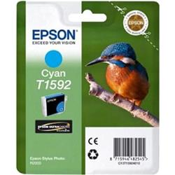 Epson T1592 Inkjet Cartridge Kingfisher 17ml Cyan Ultra Chrome Ref C13T15924010