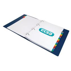 Elba Dividers Europunched A-Z with Coloured Tabs Extra Wide A4 White Ref 100204603
