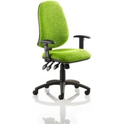Eclipse XL III Lever Task Operator Chair Swizzle Colour With Arms Ref KCUP0890