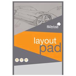 Silvine Layout Pad Bank Paper Acid Free 50gsm 50 Sheets A4