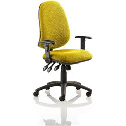 Eclipse XL III Lever Task Operator Chair Sunset Colour With Arms Ref KCUP0891