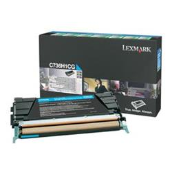 Lexmark Cyan High Yield Toner Cartridge (Yield 10,000 Pages) for C736/X736/X738