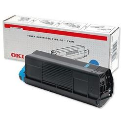 OKI Cyan 3k Toner Cartridge for C3100 Ref 42804515