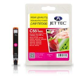 Jet Tec Canon Compatible CLI-551XL (11ml) Remanufactured Inkjet Cartridge