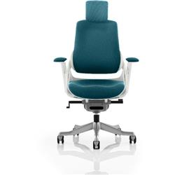 Zure Executive Chair Fully Kingfisher Colour With Arms Ref KCUP0695