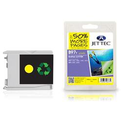 Jet Tec Brother Compatible LC970Y (10ml) Remanufactured Ink Cartridge