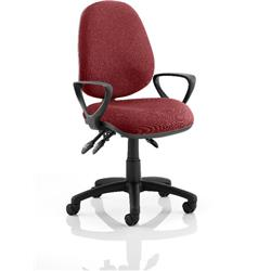 Luna III Lever Task Operator Chair Chilli Colour With Loop Arms Ref KCUP0965