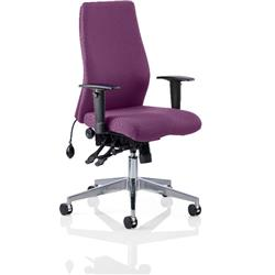 Onyx Posture Chair Purple Colour Without Headrest With Arms Ref KCUP0448
