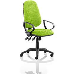 Eclipse III Lever Task Operator Chair Swizzle Colour With Loop Arms Ref KCUP0866