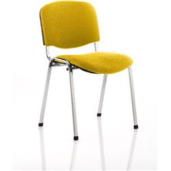 ISO Stacking Chair Sunset Colour Fabric Chrome Frame Without Arms Ref KCUP0317
