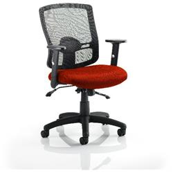Portland II Task Operator Chair With Pimento Colour Seat With Arms Ref KCUP0484