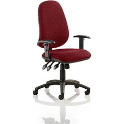 Eclipse XL III Lever Task Operator Chair Chilli Colour With Arms Ref KCUP0893