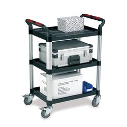 5 Star Facilities Utility Tray Trolley Standard 3 Shelf Capacity 150kg