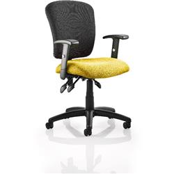 Toledo Task Operator Chair Sunset Colour Seat With Arms Ref KCUP0589