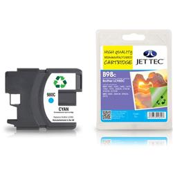 Jet Tec Brother Compatible LC980C (13ml) Remanufactured Inkjet Cartridge